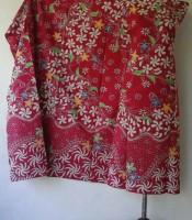 Batik Tulis Madura Warna Merah
